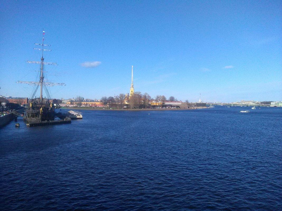 Река Нева и Петропавловская крепость. (Санкт-Петербург). - Светлана Калмыкова