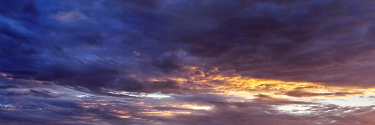 Панорама небо холодного июля - Анатолий Клепешнёв