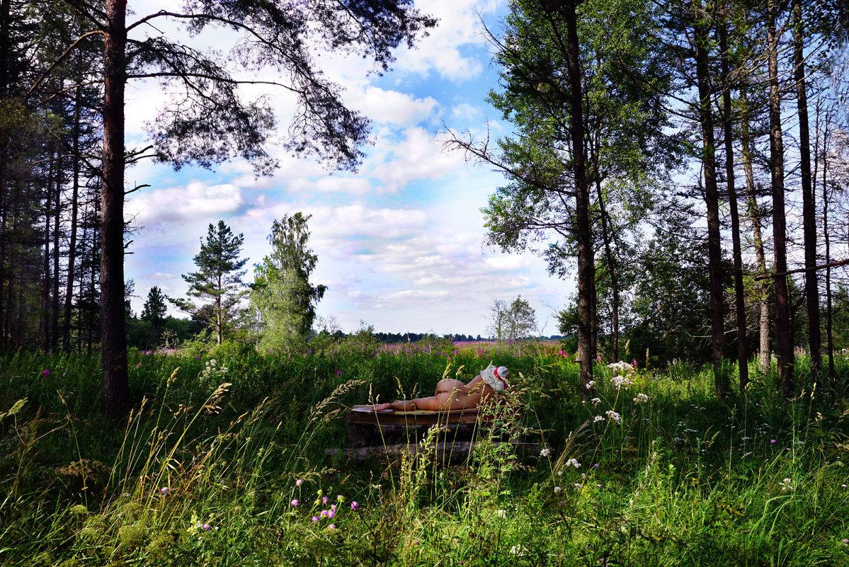 Пейзаж с обнаженной натурой - Иван Миронов