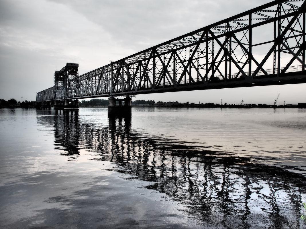Железнодорожный (Северодвинский) мост в Архангельске. - Алена Малыгина
