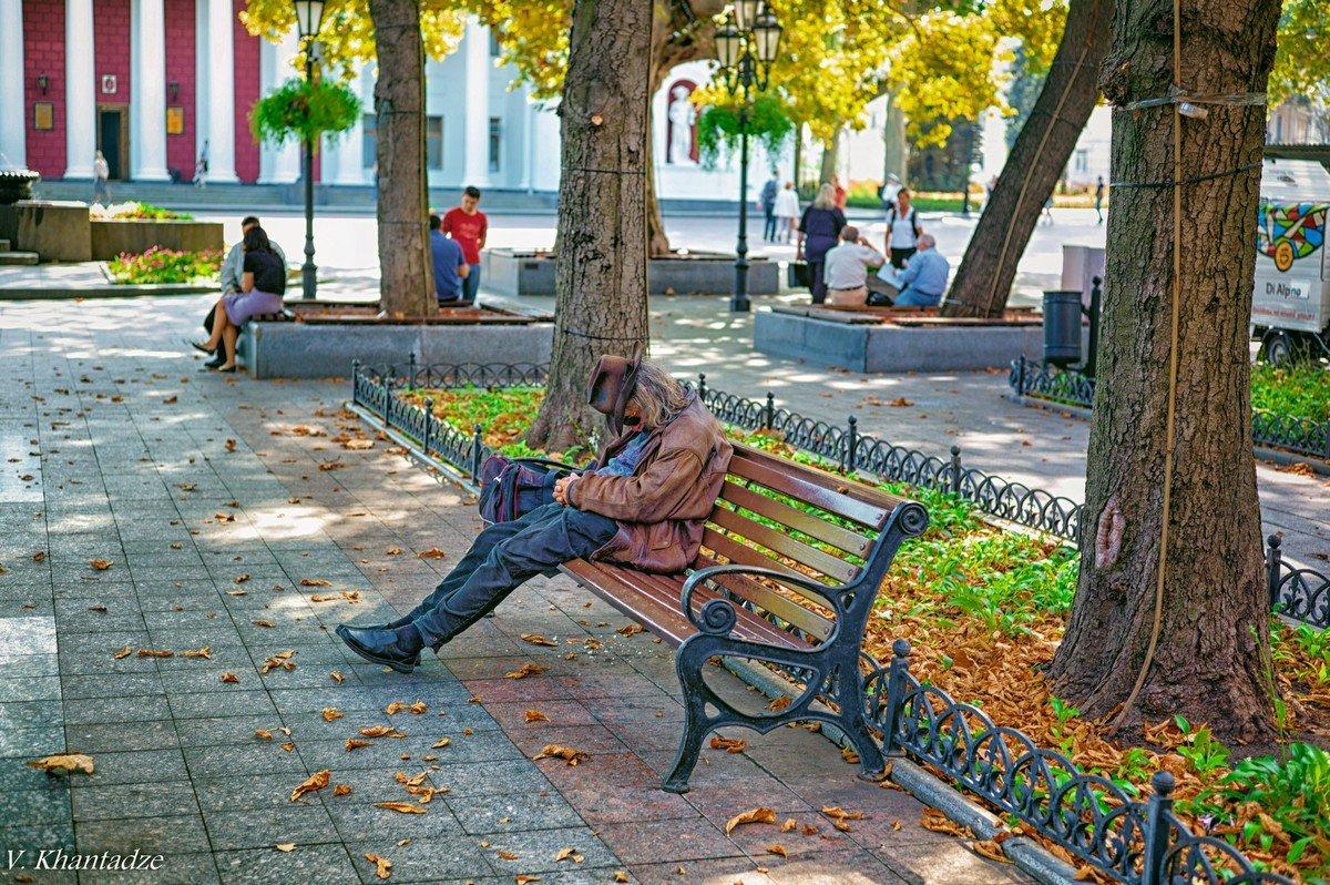 Осень на Приморском бульваре... - Вахтанг Хантадзе