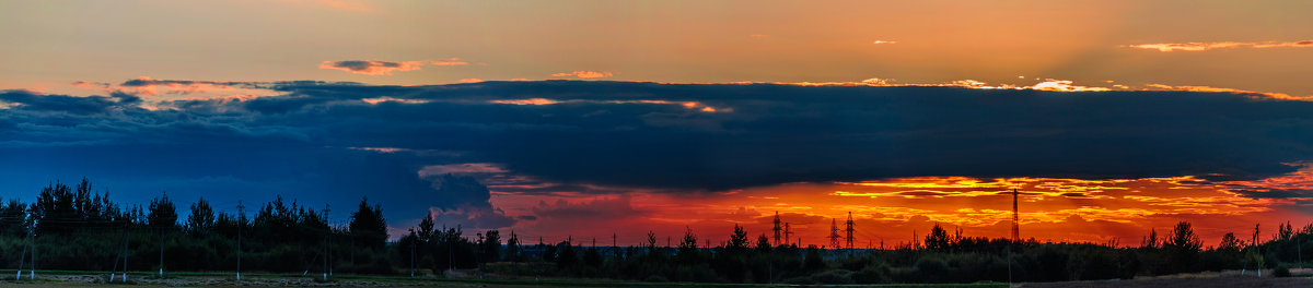 Панорама сентябрьского заката... - Анатолий Клепешнёв