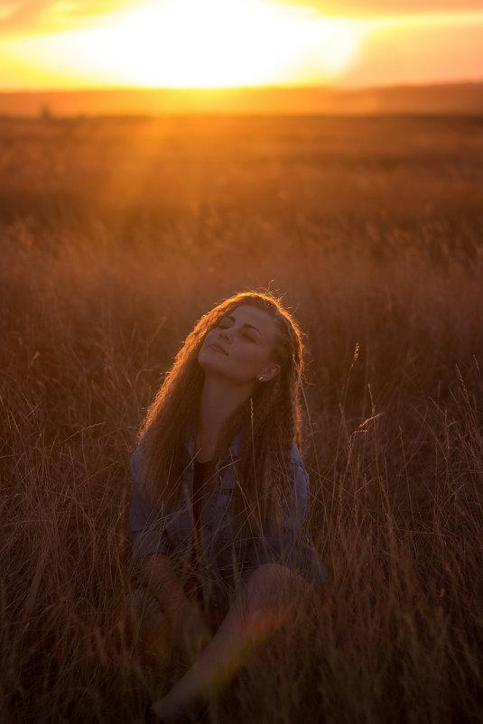 На закате - Оксана