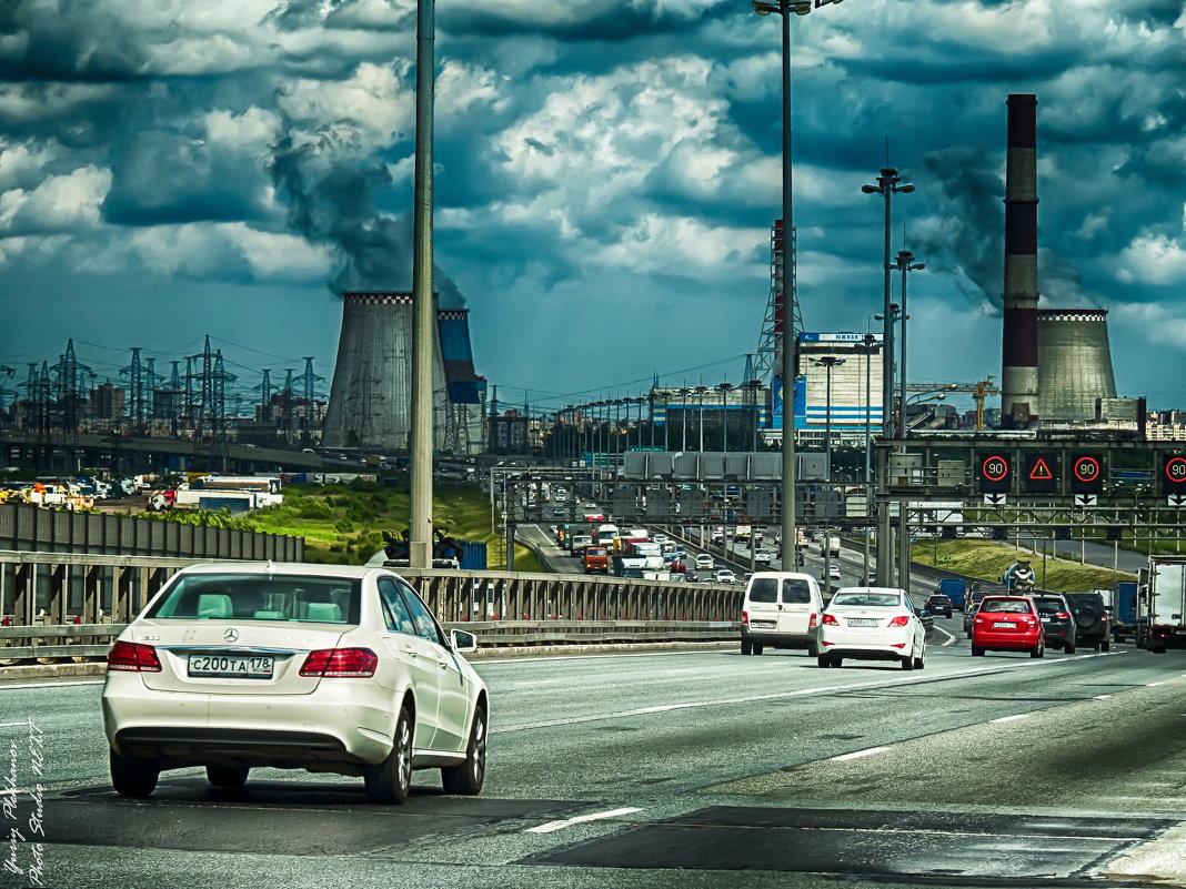Питер горка на КАД между Московским шоссе и Софийской улицей - Юрий Плеханов