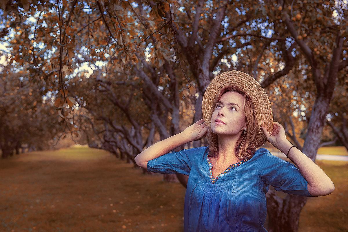 Яблоневый осенний сад. - Татьяна Полянская