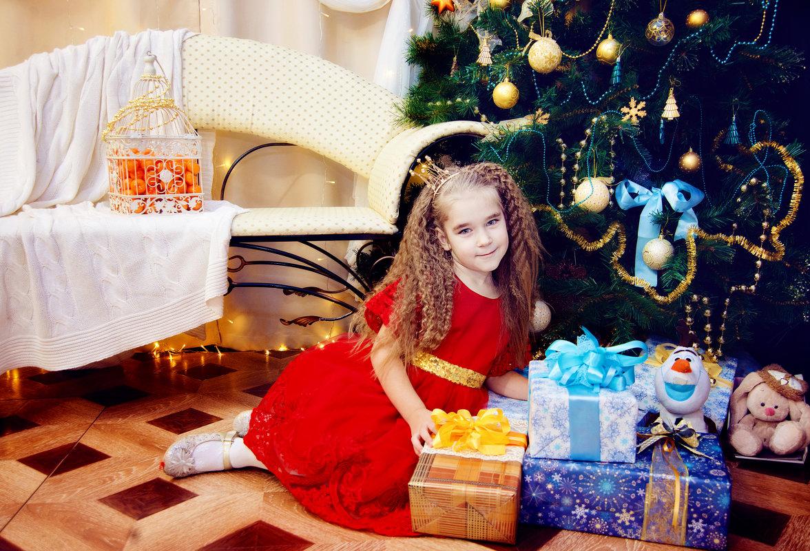 Новогодняя фотосессия девочки - марина алексеева