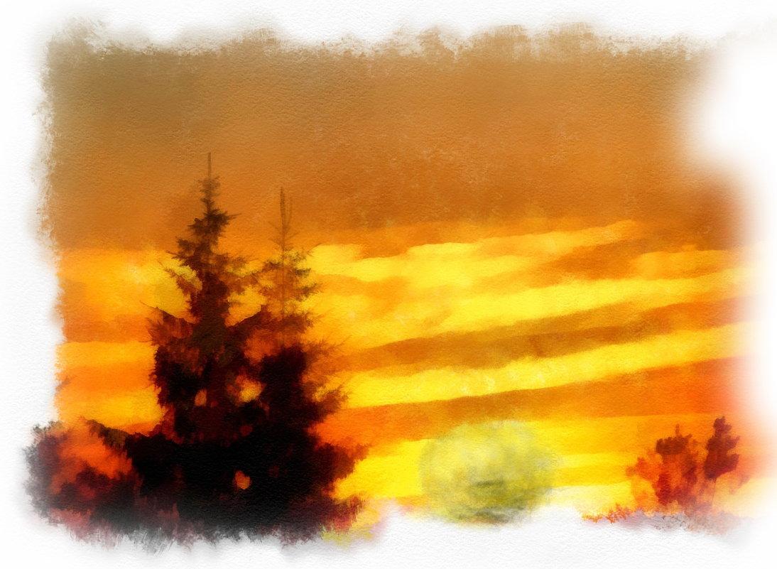 Персиком нежным закат догорает.................. - Tatiana Markova