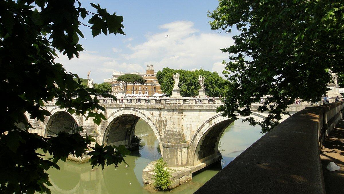 Вид на Мост Святого Ангела (Ponte Sant'Angelo) - Елена Павлова (Смолова)