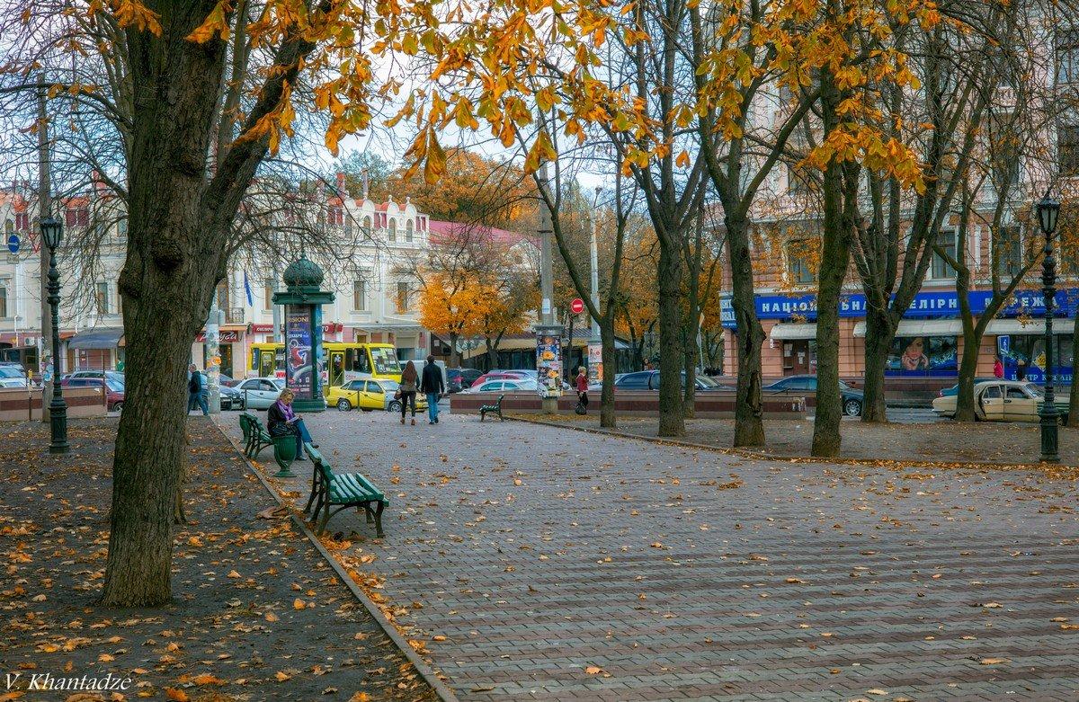 Ноябрь в городе. - Вахтанг Хантадзе