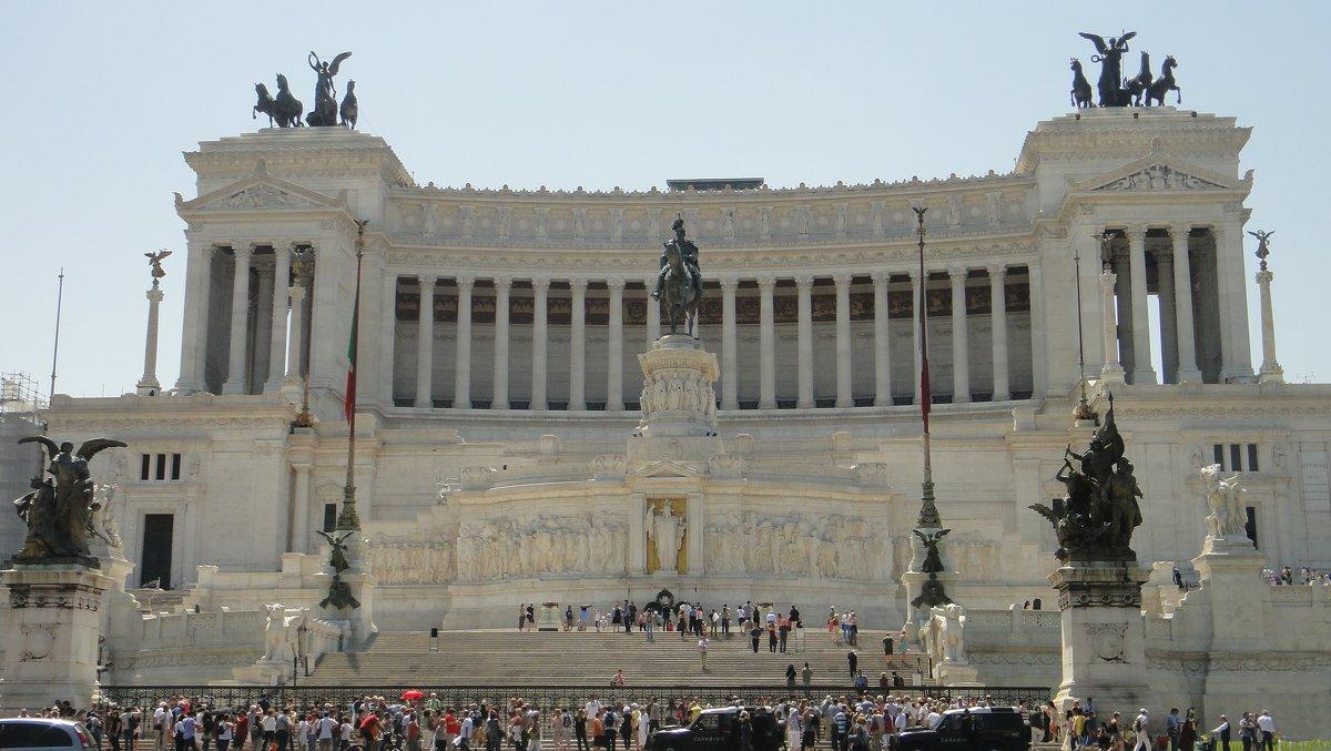 Площадь Венеции. Монумент - Витториано. - Елена Павлова (Смолова)