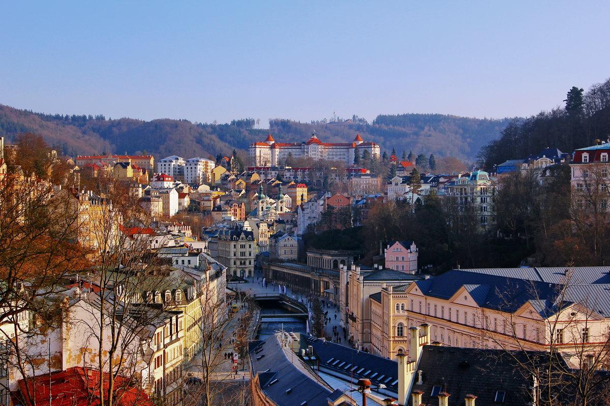 Панорама старого города- Карловы Вары - Андрей