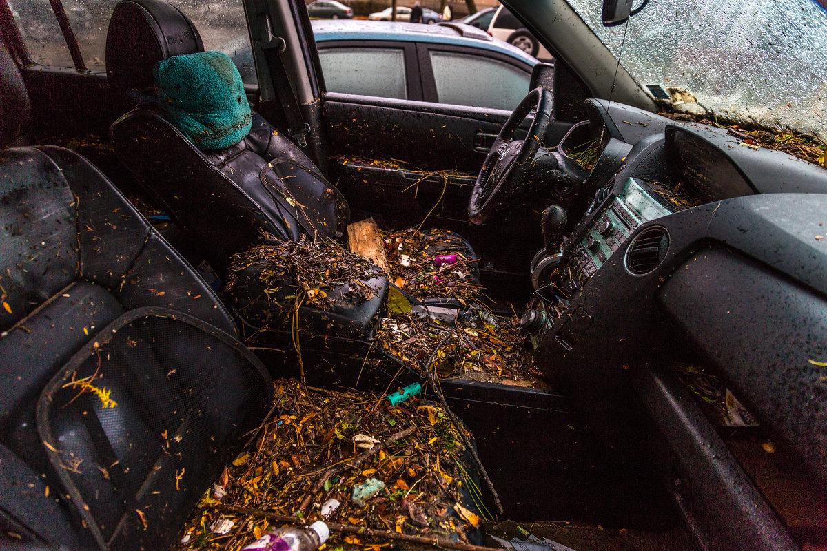 моя машина после урагана Сэнди - Naum