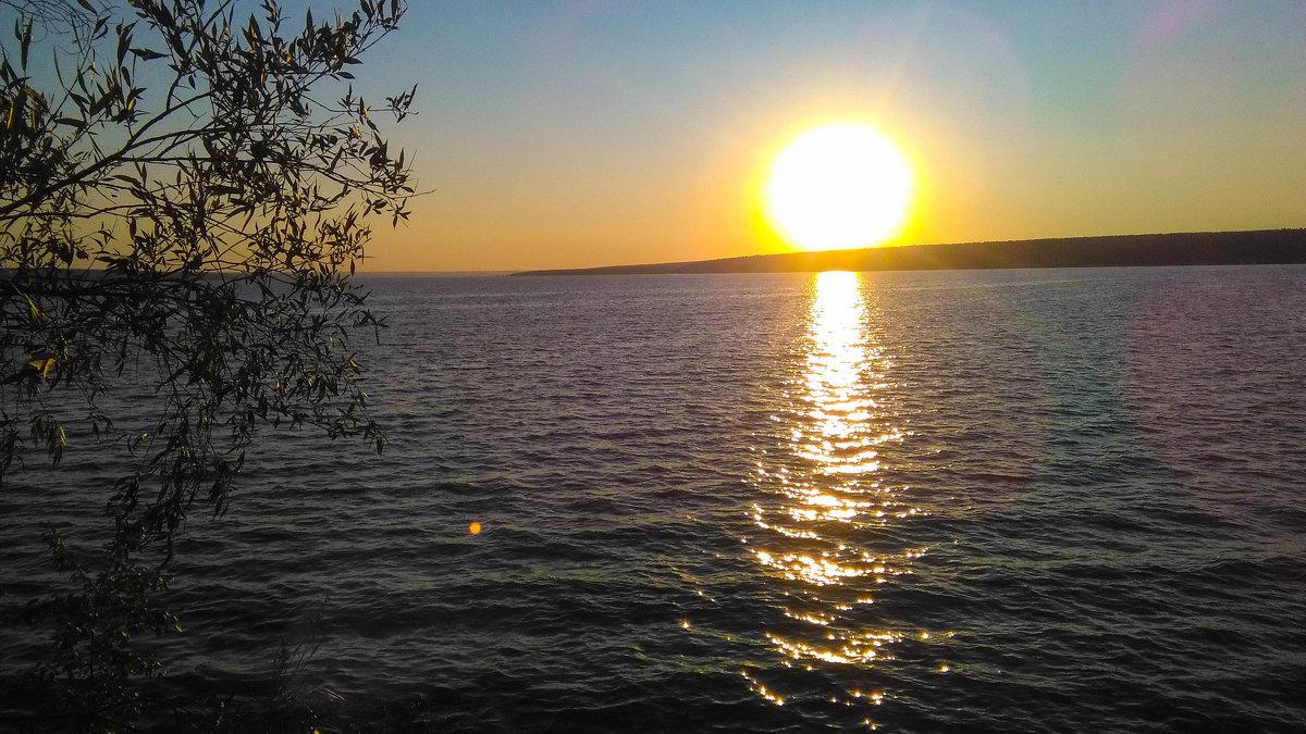 Закат на Сурском водохранилище г.Пенза - Евгения Трушкина
