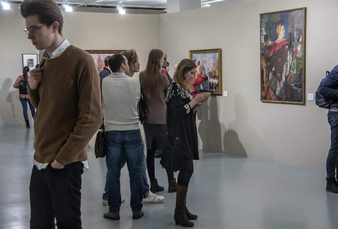 На выставке картин - Яков Реймер