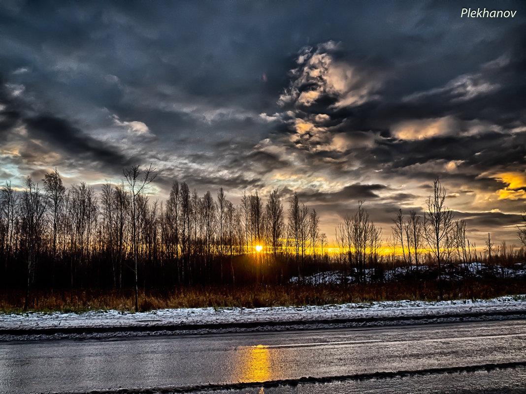 Рассвет на Третьем Бадаевском проезде Шушары - Юрий Плеханов