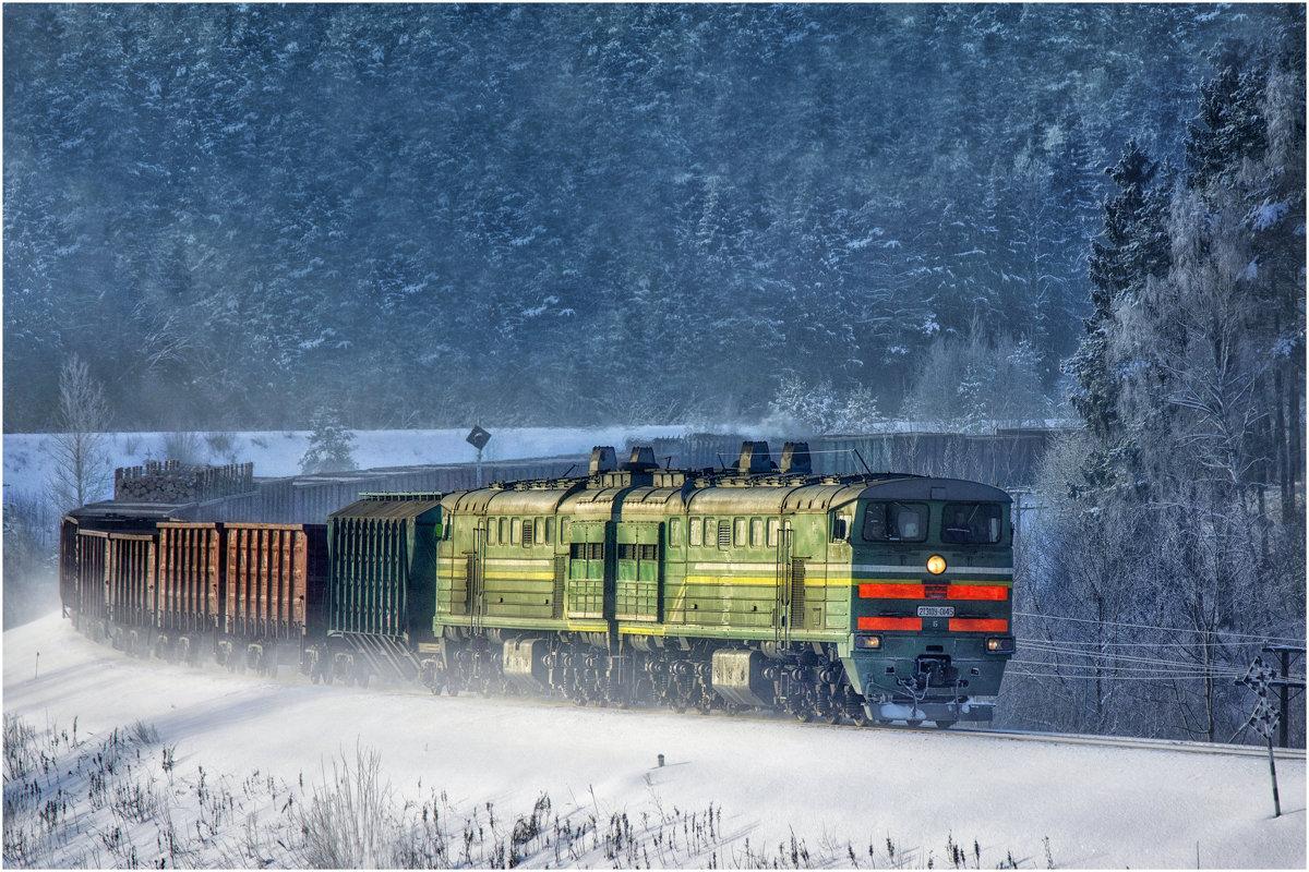 Зимнее утро на ж/д - Алексей Румянцев