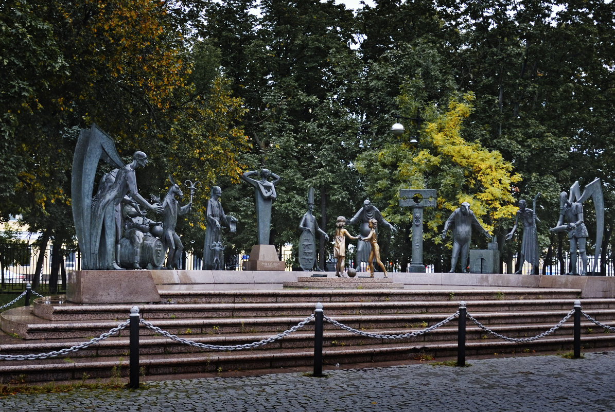 Вечер на Болотной.  Evening at Bolotnaya Square. - Юрий Воронов