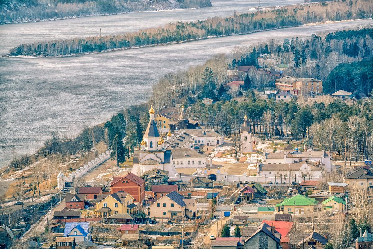 Вид на Свято-Успенский мужской монастырь. Красноярск - Дмитрий Брошко