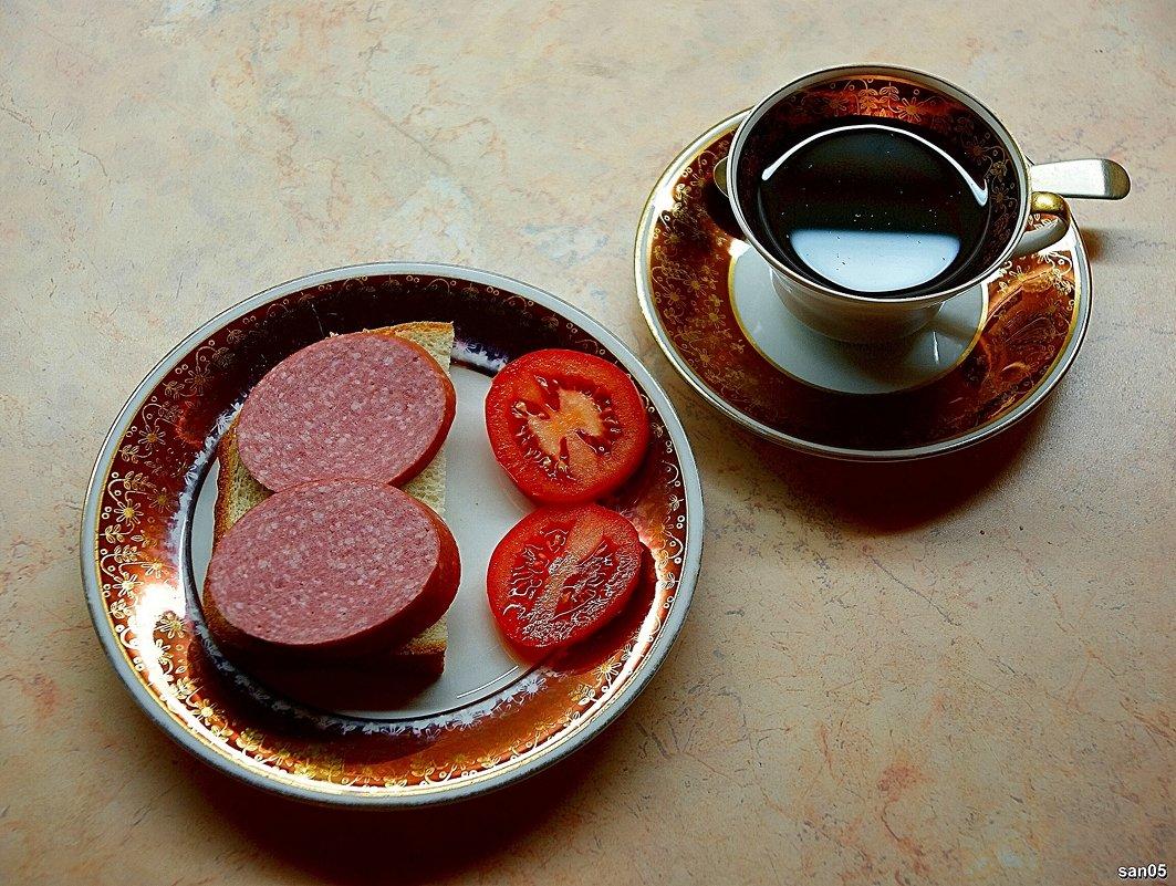 Бутерброд с колбасой и чашка чая - san05 -  Александр Савицкий