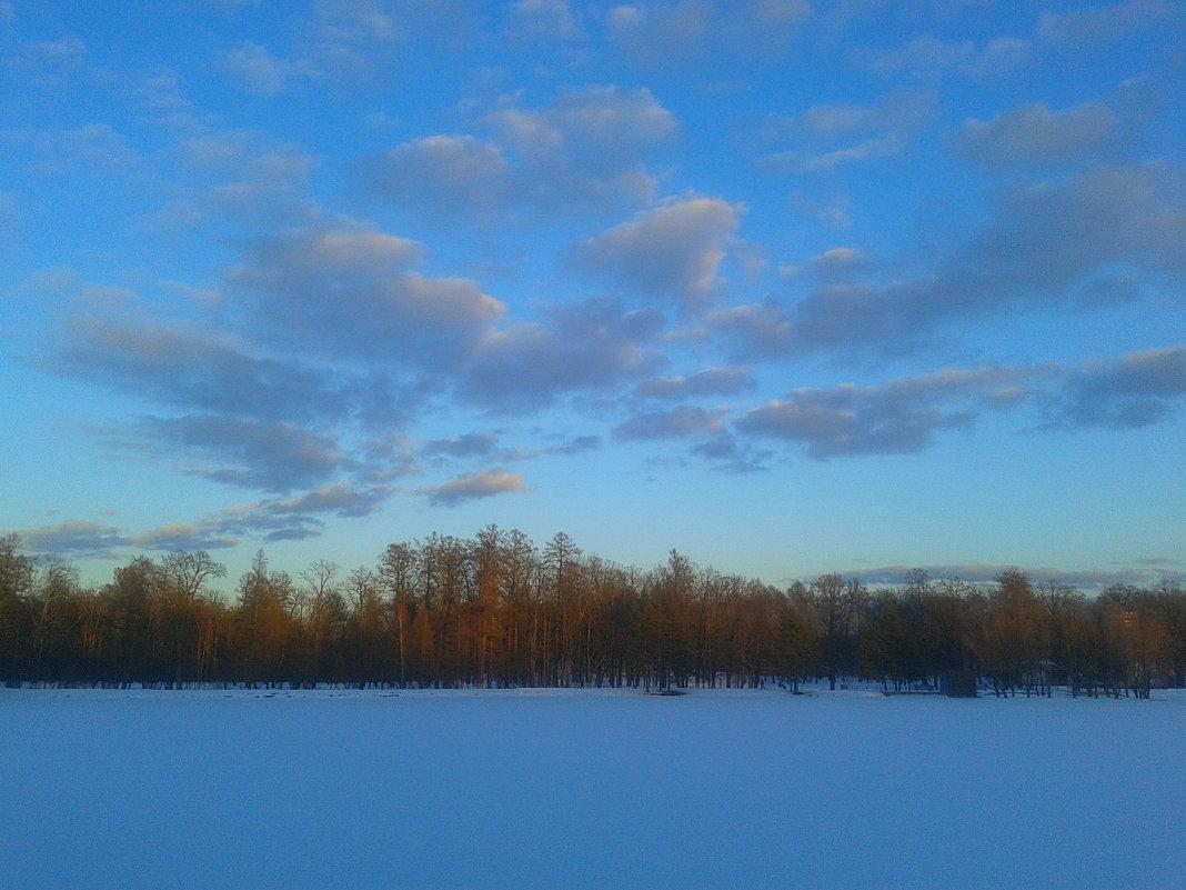 Розовые облака заката - Сапсан
