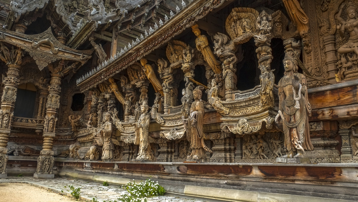Деревянные скульптуры Храма Истины. Паттайя. Тайланд. - Rafael