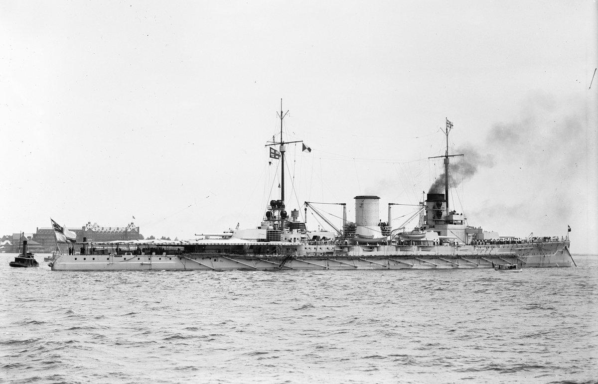 """German battlecruiser SMS """"Moltke"""" at Hampton Roads, Virginia, June 1912 - Александр"""