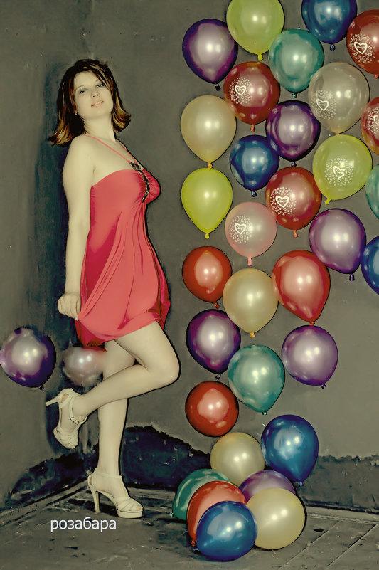 Мари словно маленькая очень любит воздушные шары) - Роза Бара