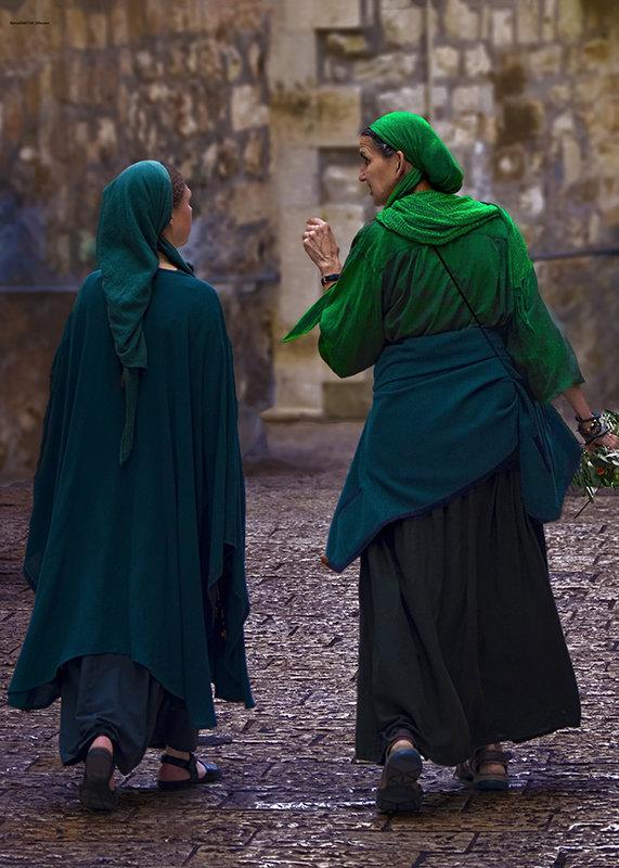 Иерусалим и его жители-разговор в ночи. - Shmual Hava Retro