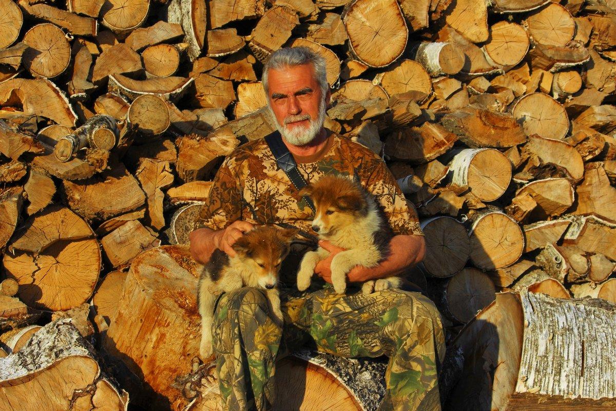Портрет с щенками - Сергей Чиняев