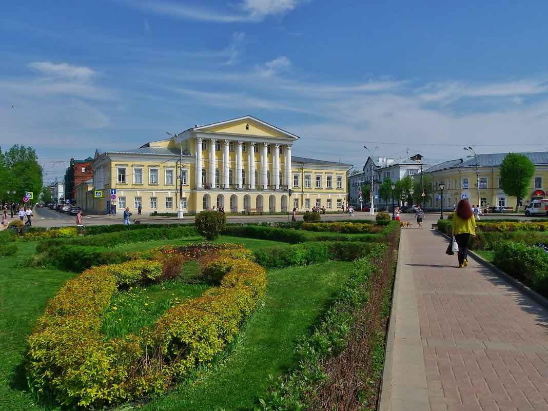 Старый центр Костромы . - Святец Вячеслав