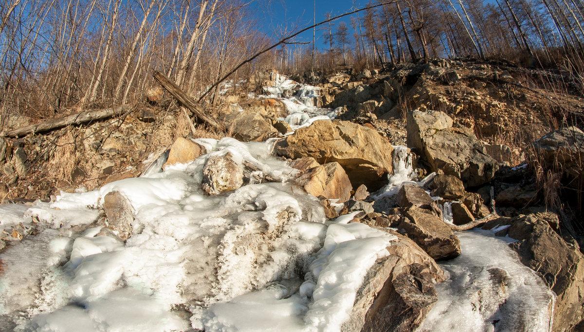 Замёрзший  водопад - Александр Паклин