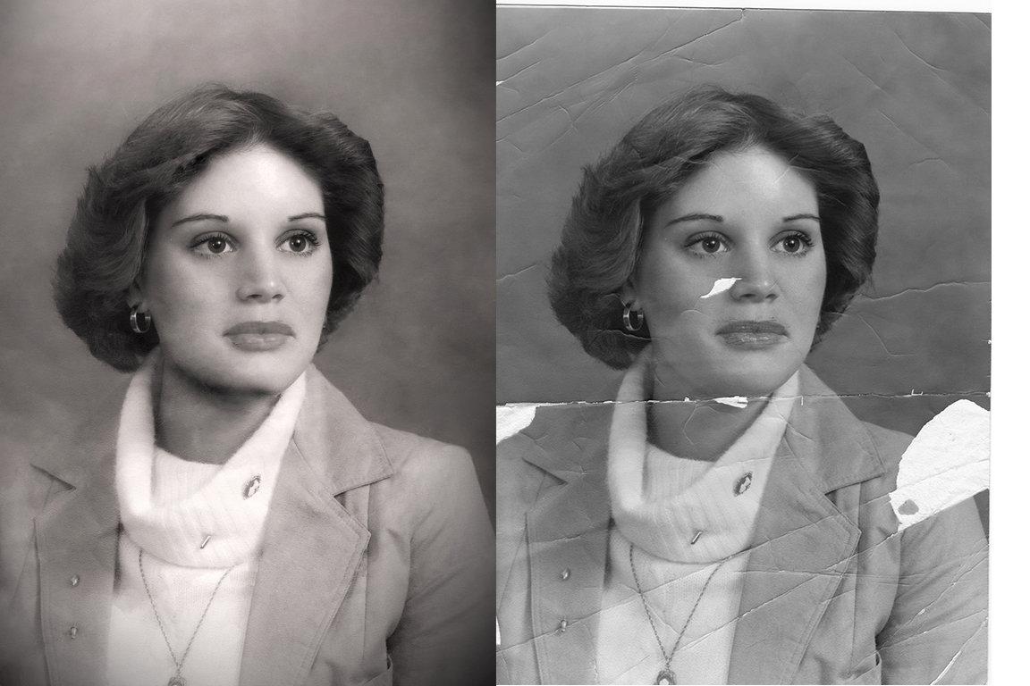 ретушь старого фото - Екатерина Изместьева