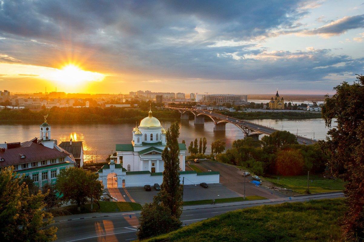 Закат в Нижнем Новгороде - Владимир Пресняков
