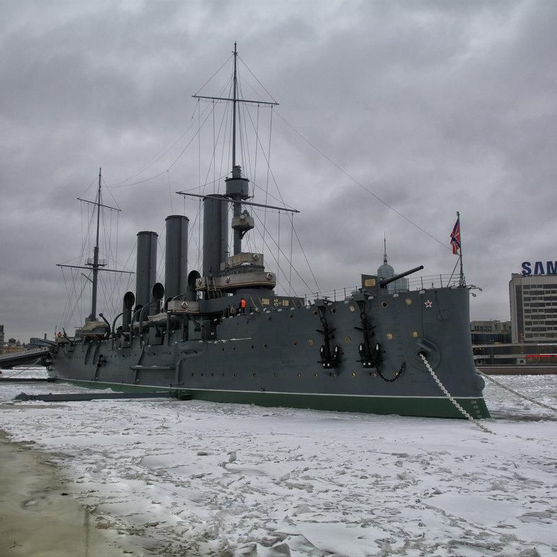 Крейсер Аврора во льду - Максим Хрусталев