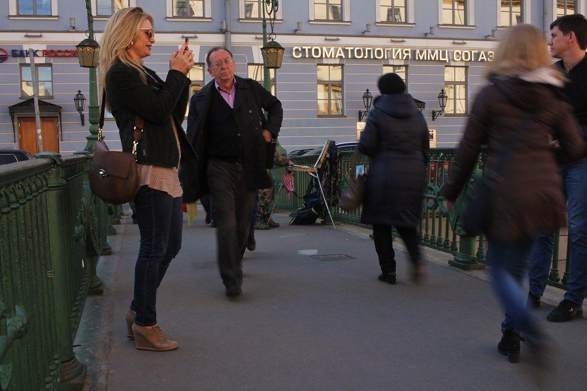 На мосту через канал Грибоедова - Алла Жаркова