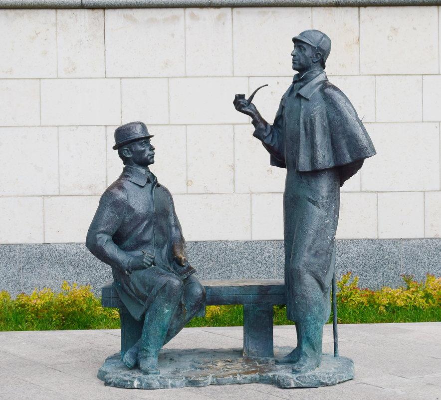 Памятник Шерлоку Холмсу и доктору Ватсону в Москве - Galina Leskova