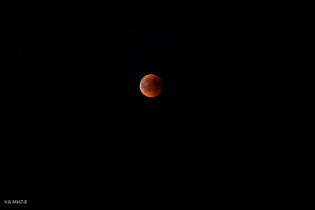 Полное лунное затмение. - Mila .