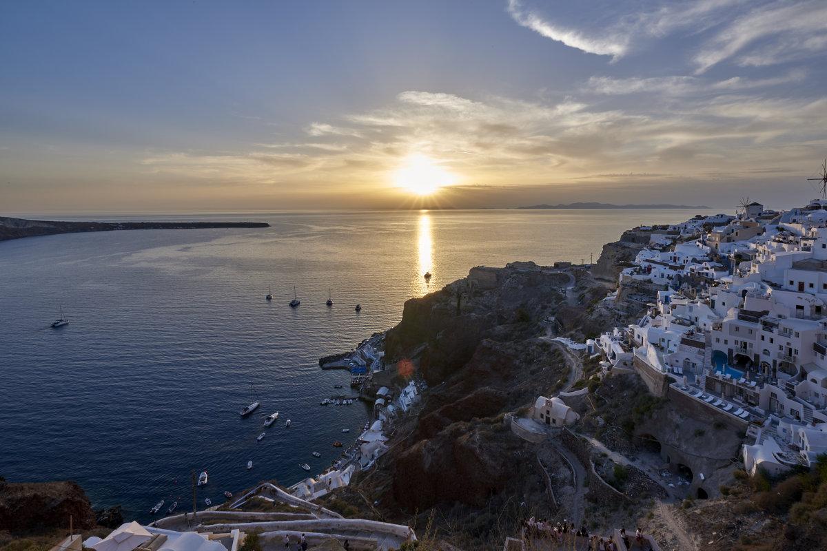 Закат в городке Ия Санторини - Минихан Сафин