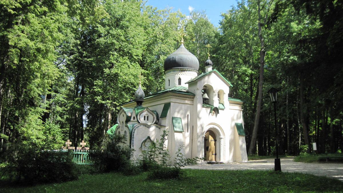 Церковь Спаса Нерукотворного в Абрамцево. 1883 год. - Маера Урусова