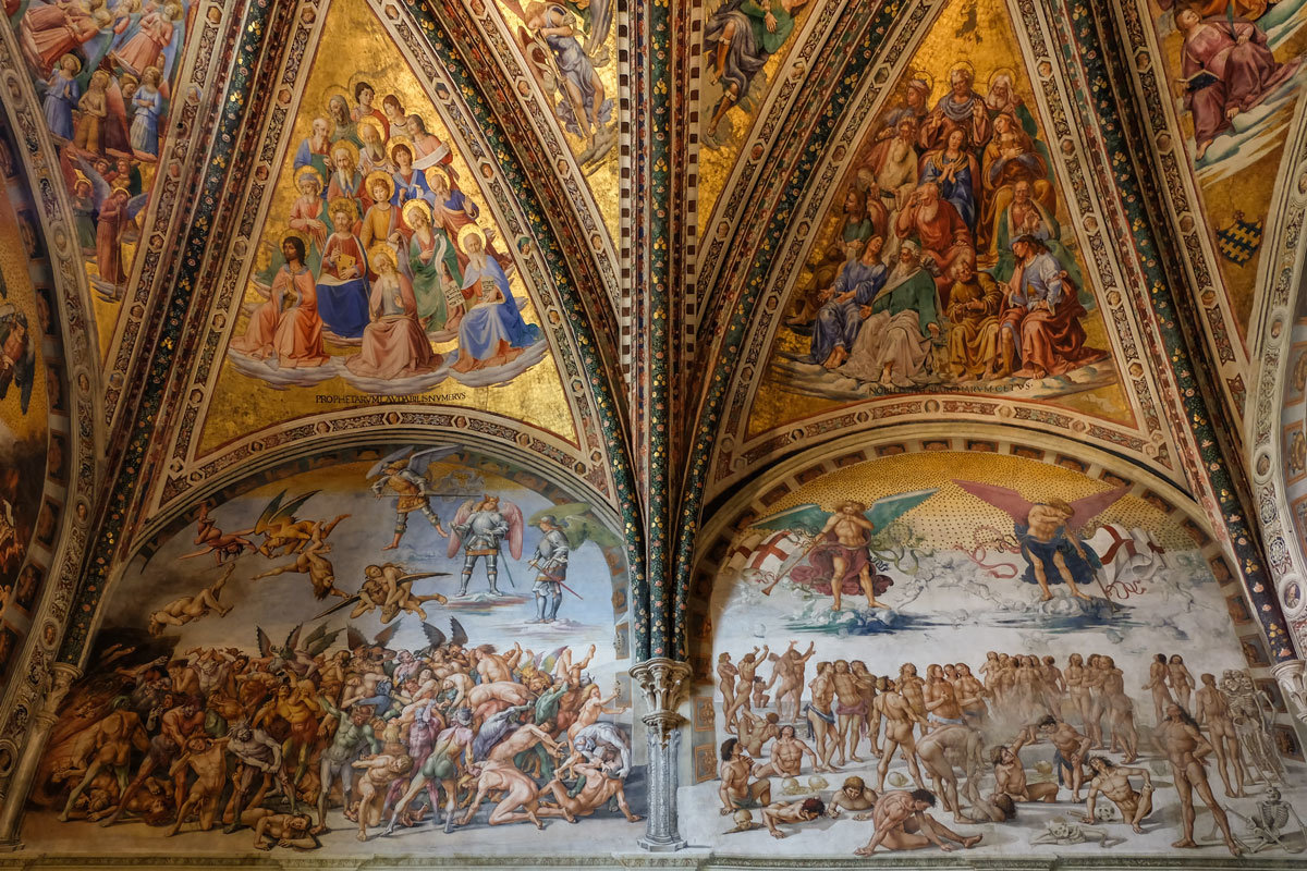 Умбрия. Орвието. Кафедральный собор (Duomo di Orvieto). Придел Св. Бриция. Фрески Луки Синьорелли. - Надежда Лаптева