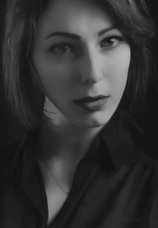Studio A. Krivitsky. Portrait of a fashion model. - krivitskiy Кривицкий