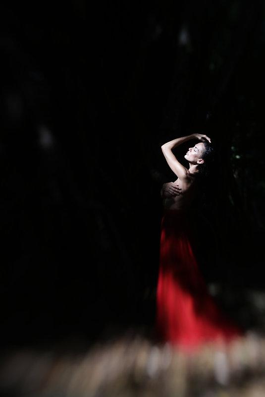 девушка в красной юбке - Женя Галковская