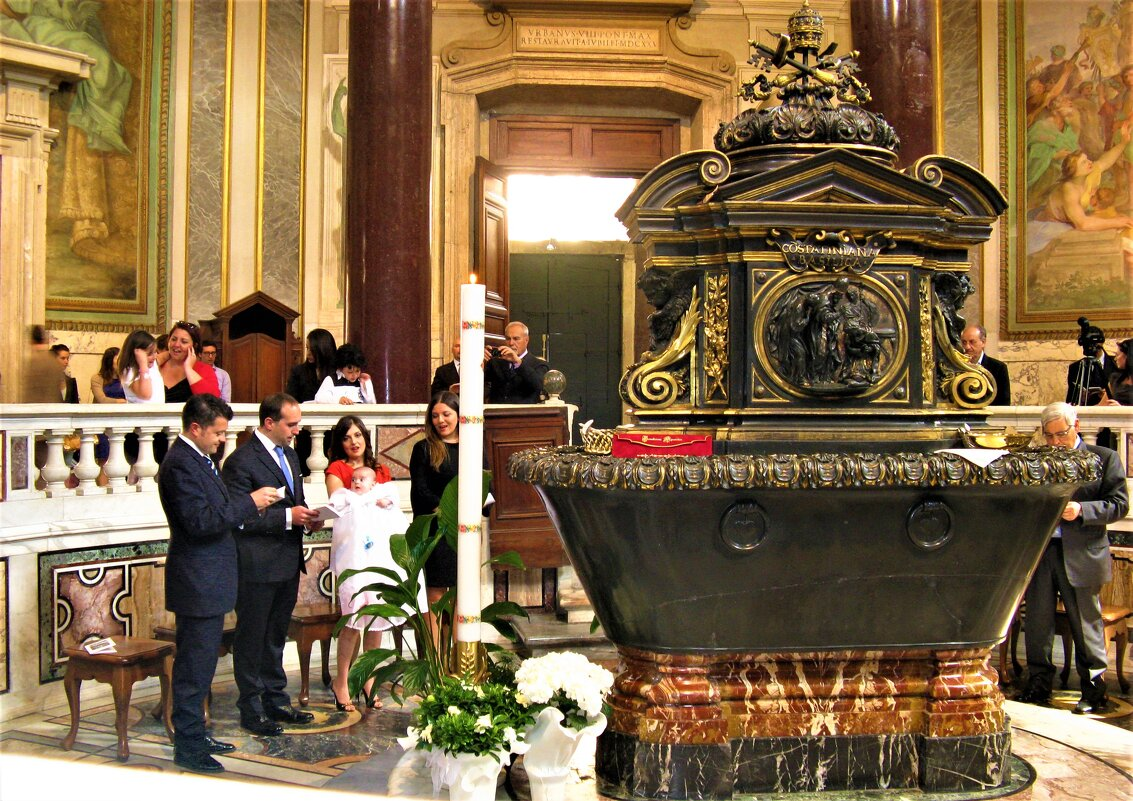таинство крещения в Риме - Серж Поветкин