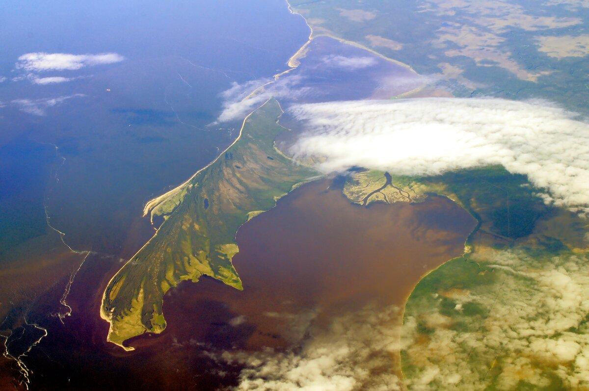 остров Мудьюг с высоты 10000 метров - vg154