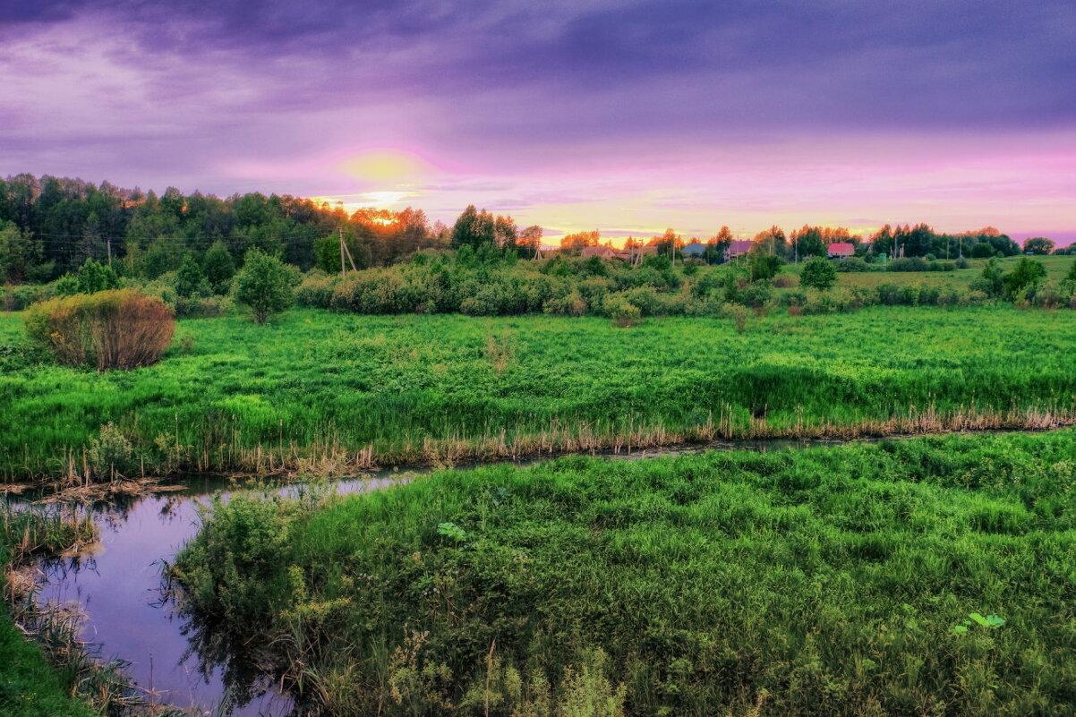 закат начинается над рекой - Георгий А