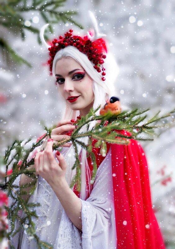 Фотоссессия со снегирями - Ирина .