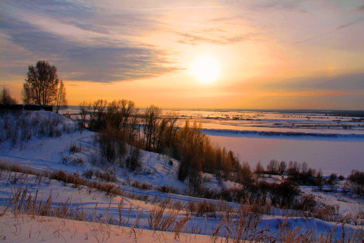 Зимним днем на реке - владимир тимошенко