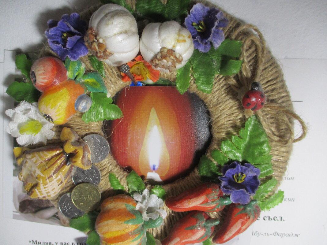 Натюрморт со свечой и дарами природы - Alex Aro Aro Алексей Арошенко