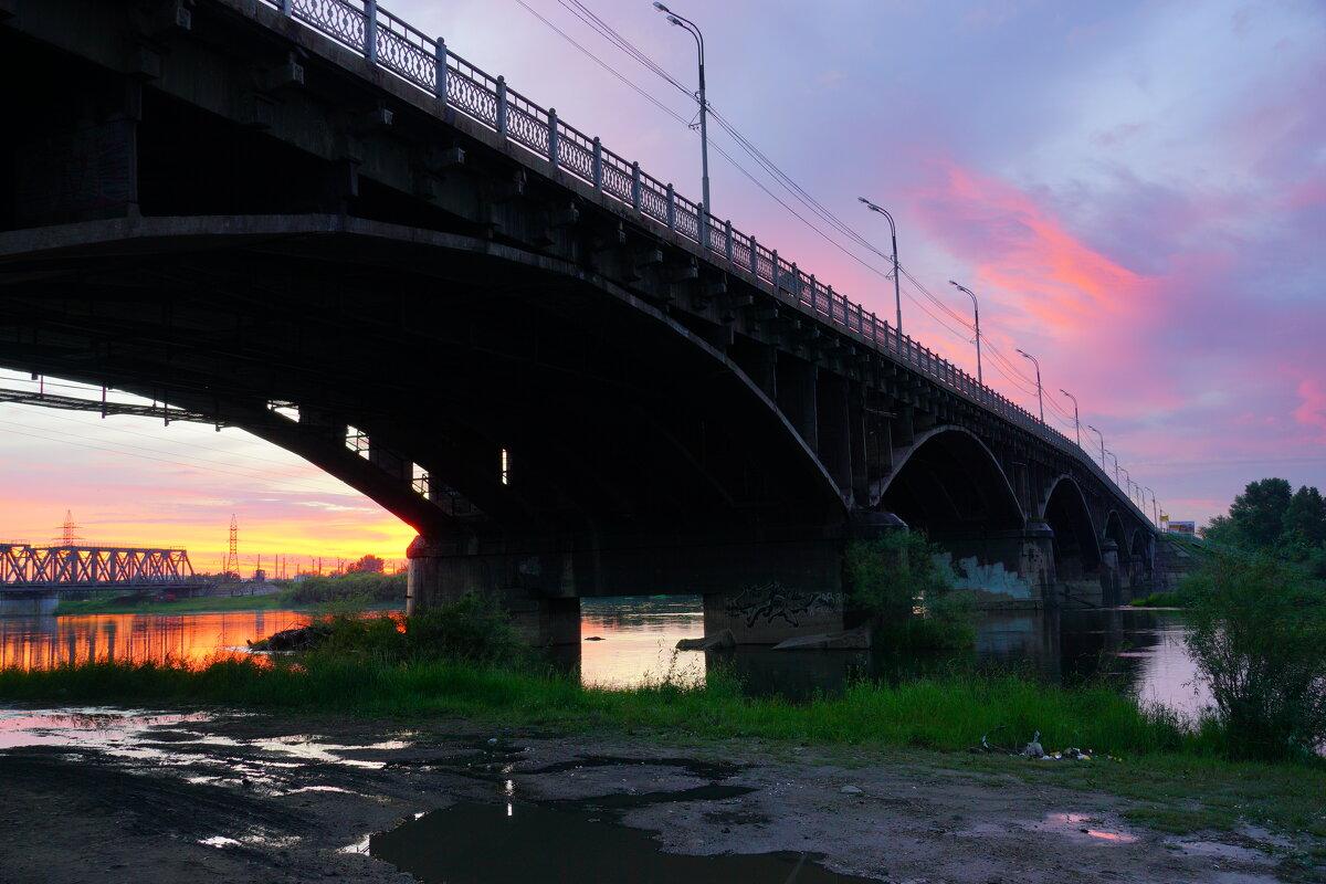Иркутный мост. Второй вариант. - Nikolay Svetin