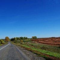 Тогульский тракт,через лобовое стекло,Сентябрь. :: Владимир Михайлович Дадочкин